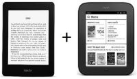 Комплект электронная книга Amazon Kindle Paperwhite + NOOK Simple Touch