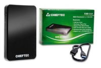 "Корпус для 2.5"" HDD/ SSD CHIEFTEC External Box EEB-40S-U3, USB3.0, RETAIL"